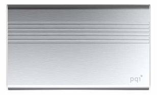 PQI POWER BANK 5000VmAh DUAL-USB 2,4/1,5A,SILVER, ALUMINIOWY