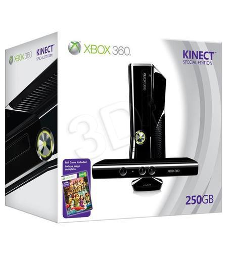 Xbox 360 250GB + Kinect + Kinect Adventures