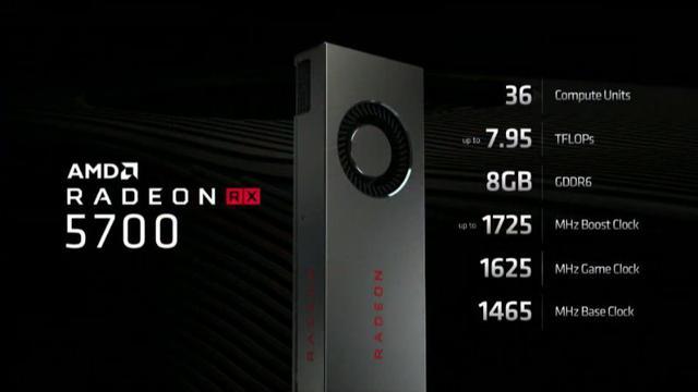 RX 5700 - specyfikacja