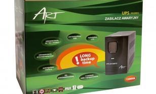 ART UPS 1200VA/720W AVR LCD,RJ11,USB+oprogramowanie