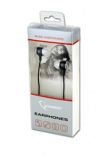 GEMBIRD Słuchawki douszne z mikrofonem 90cm black/white