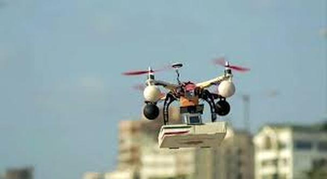 Rosyjski dron dostarcza pizzę!