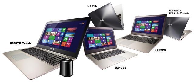 ASUS prezentuje nowe modele ultraprzenośnych notebooków