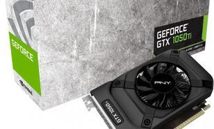 PNY Technologies GeForce GTX 1050 Ti 4GB GGDR5 (128 Bit) HDMI, DVI, DP, BOX (GF105IGTX4GEPB)