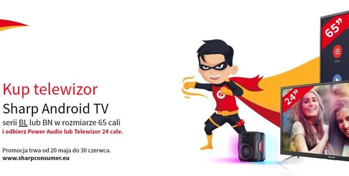 Dwa gratisy do sporych telewizorów Sharpa - Opłaca się kupić?