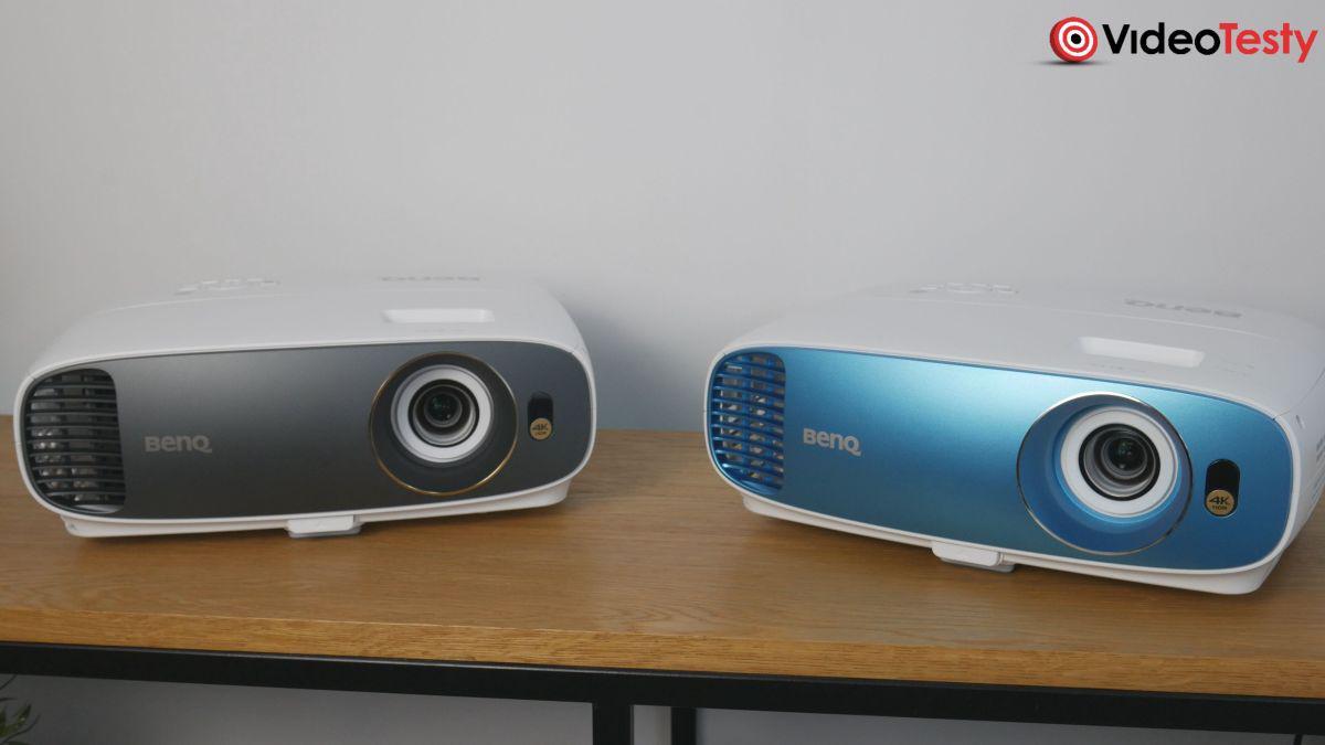 BenQ TK800M i BenQ W1720 porównanie wyglądu zewnętrznego
