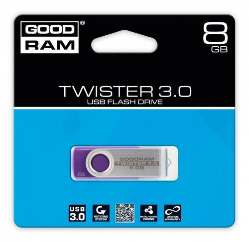 GoodRam TWISTER PURPLE 8GB USB3.0