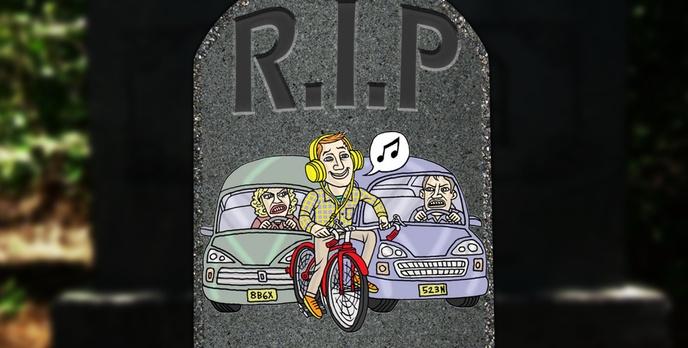 Słuchawki, Rower i Jazda... Ale na Cmentarz!