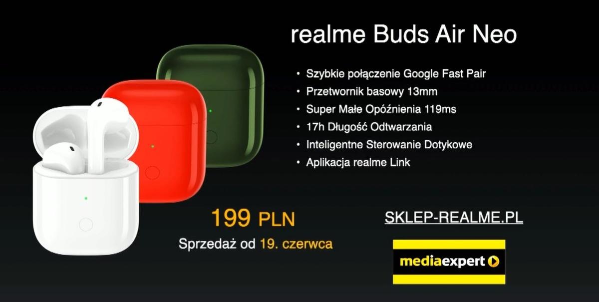 Realme Buds Air Neo mogą być poważną konkurencją dla Xiaomi