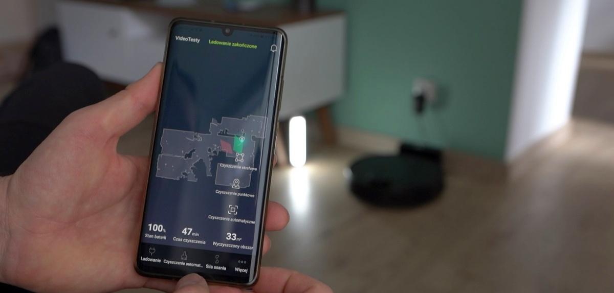 Aplikacja daje dostęp do mapy odkurzania