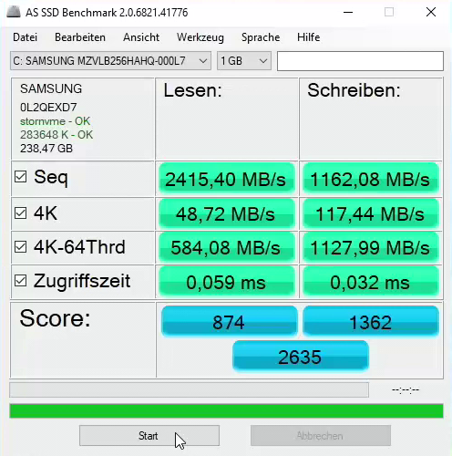 Lenovo X1 Carbon - dysk NVMe SSD