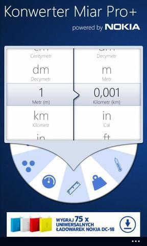 Windows Phone 8 konwerter miar