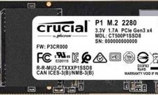 Crucial P1 500GB M.2 PCIe - RATY 0%