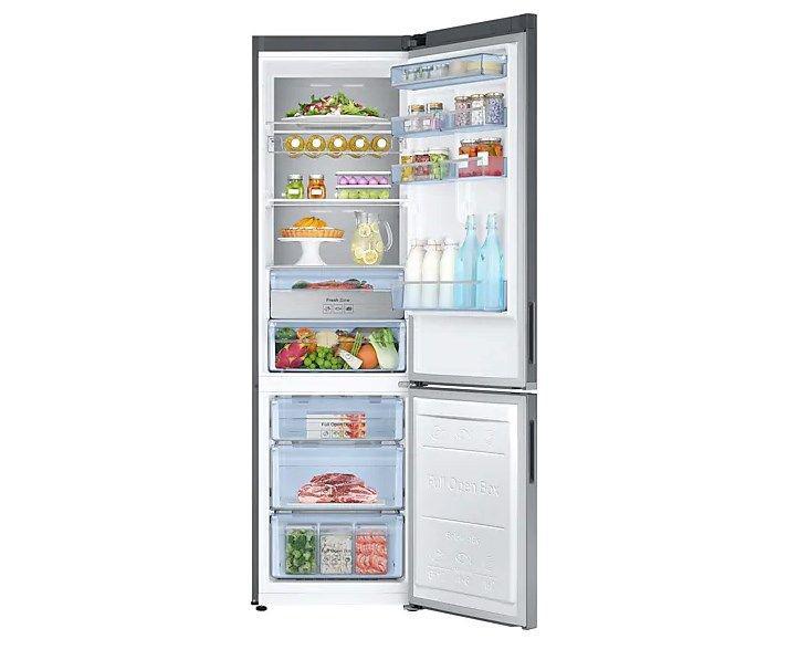 Samsung RB37K6033SS półki i szuflady
