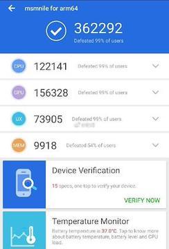 Samsung Galaxy S10 benchmark