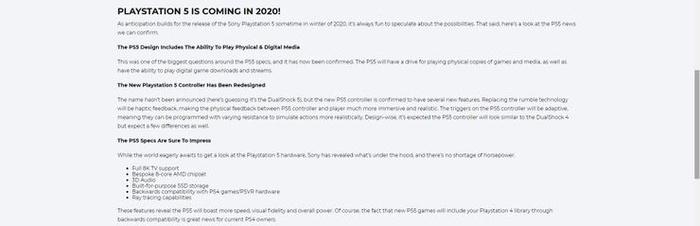 Informacje ze strony zamówień przedpremierowych Gamestopu (źródło: Gamerant)