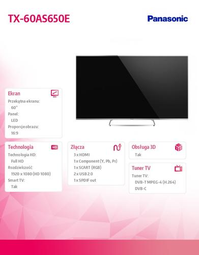 Panasonic 60'' LED TX-60AS650E