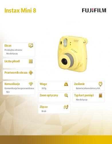 FujiFilm Instax Mini 8 yellow + wkład Glossy (10/PK)