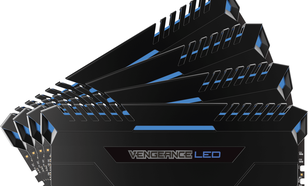 Corsair Vengeance LED, DDR4, 64 GB,3200MHz, CL16 (CMU64GX4M4C3200C16B)