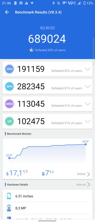 Antutu Benchmark 8.3.4 Sony Xperia 1 III