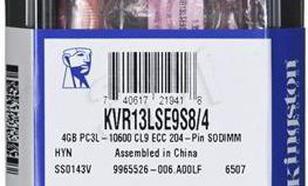 KINGSTON 4GB SODIMM DDR3 ECC 1333MHz KVR13LSE9S8/4 LV
