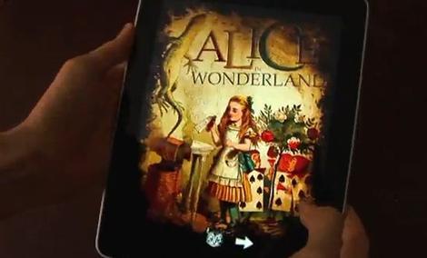 iPad i Alicja w krainie czarów