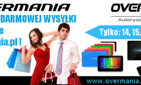 Overmania.pl - przez najbliższe dni darmowa wysyłka produktów firmy Overmax!