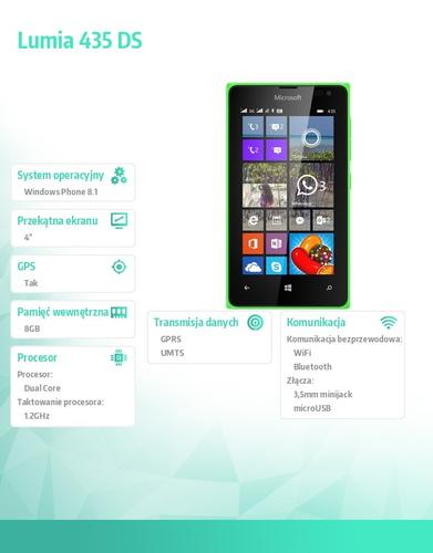 Microsoft Lumia 435 DS Bright Green