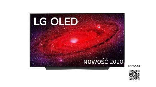 LG 55CX3LA na białym tle