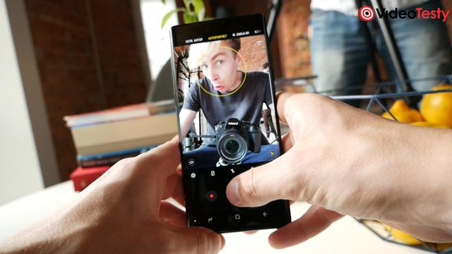 Samsung Galaxy Note9 robienie selfie