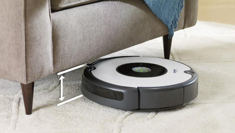 Roomba 605 to sprzęt niski, dotrze wszędzie