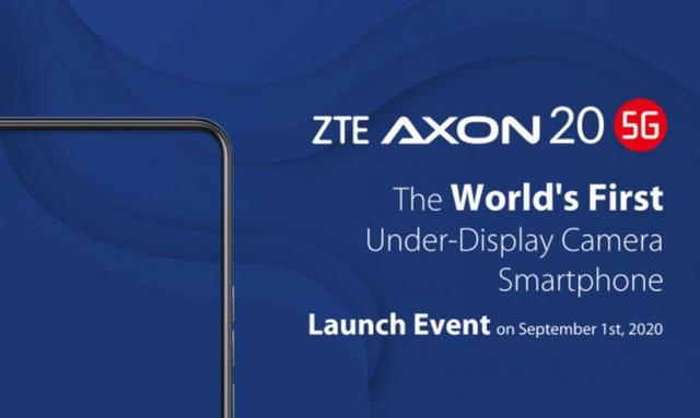 ZTE Axon 20 5G to pierwszy smartfon z kamerą ukrytą pod ekranem