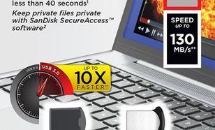 SanDisk ULTRA FIT USB 3.0 64GB (do 130 MB/s)