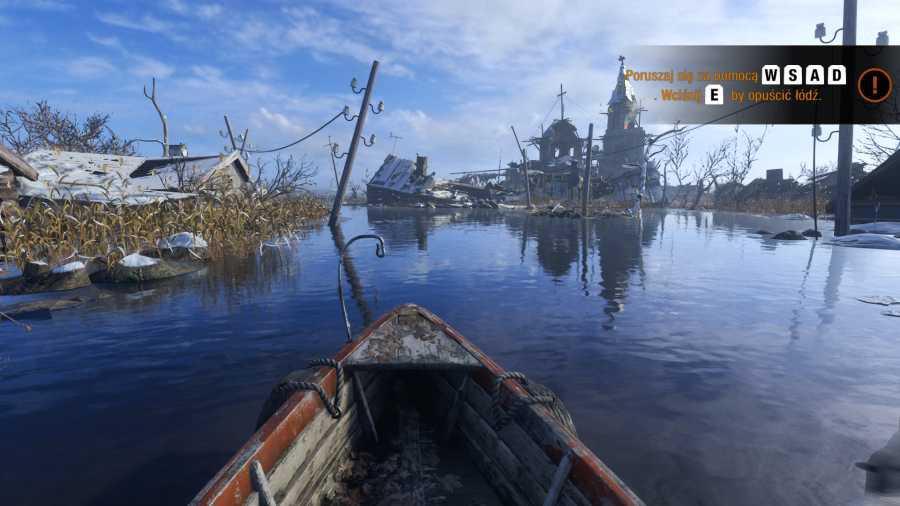 Metro Exodus - Pływanie łódką