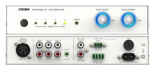 Vision AV-1700 2x30WRMS wzmacniacz cyfrowy/biały