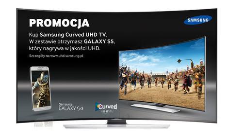 Zakrzywiony telewizor i Galaxy S5 - nowa kampania Samsunga