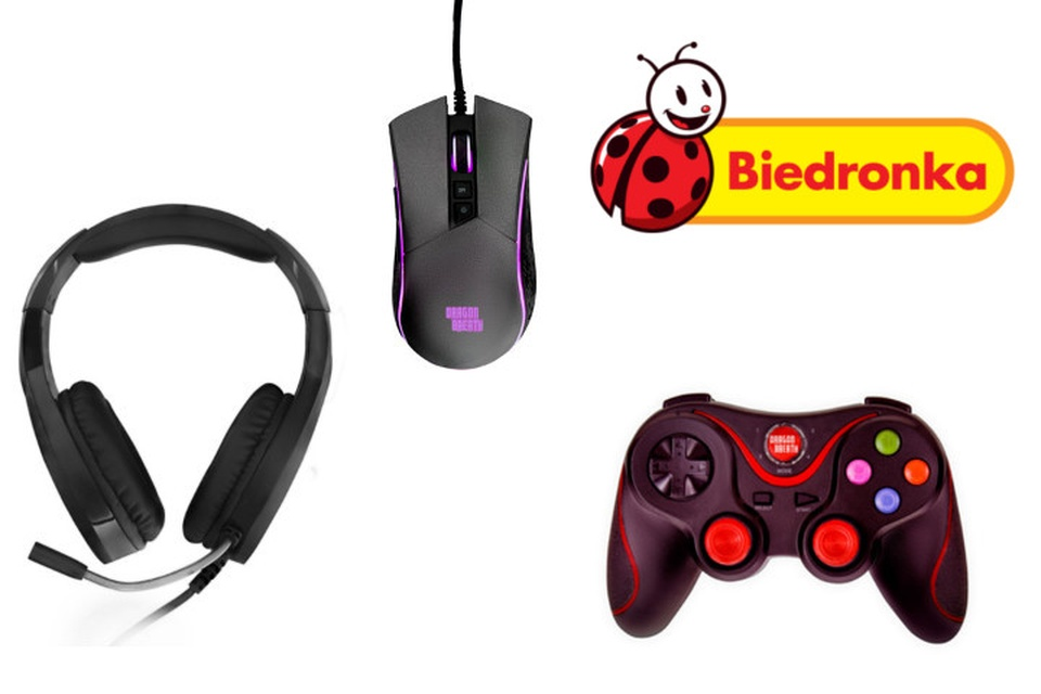 Gamingowy sprzęt marki Dragon Breath w Biedronce