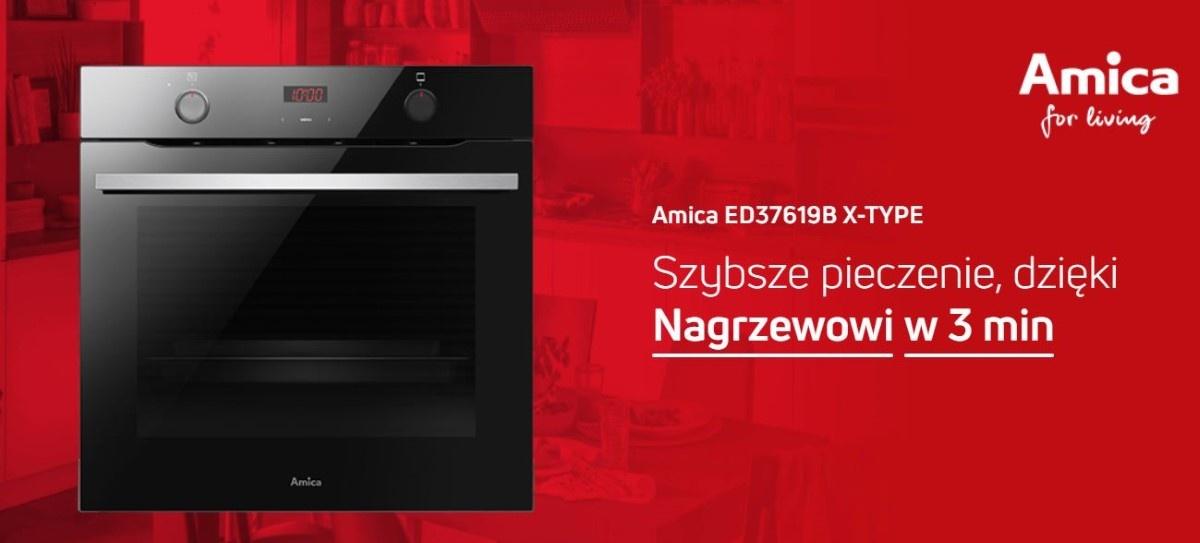 Grafika  Amica ED37619B X-Type na czerwono