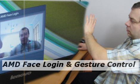 Kontrola gestów i Face Login w wydaniu AMD
