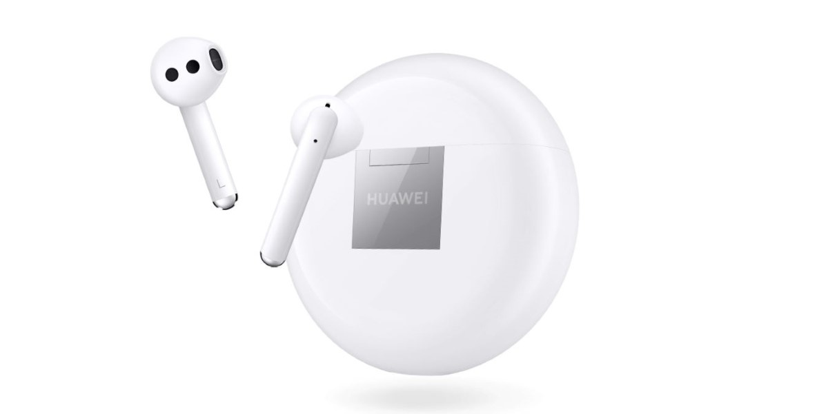 Huawei Freebuds 3 w białym kolorze z etui