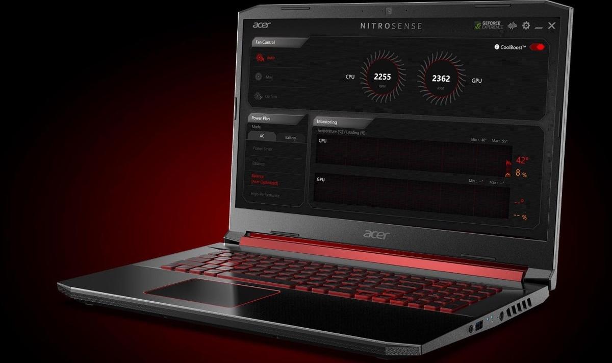 Laptop Acer Nitro 5 wyposażono w NitroSense do optymalizacji działania