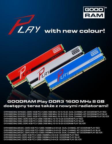 GoodRam DDR3 PLAY 8GB/1600 Niebieski