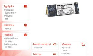 Aura Pro SSD 480GB Macbook Pro Retina (501/503 MB/s, 60k IOPS) SYNC NAND