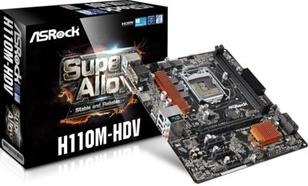 ASRock H110M-HDV, H110M, DDR4, SATA3, USB 3.0, mATX (90-MXGZU0-A0UAYZ)