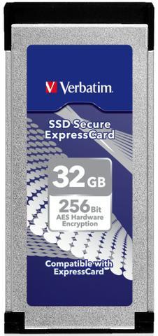 Verbatim SSD Secure ExpressCard