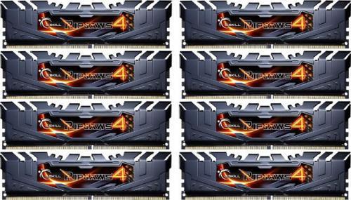 G.Skill DDR4 64GB (8GBx8) 2800MHz, CL15, Octa-Kit (F4-2800C15Q2-64GRK)