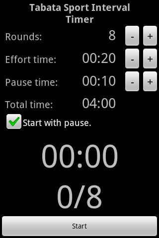 Taba Sport Interval Timer na Android