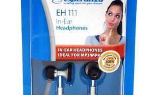 ESPERANZA Słuchawki metalic douszne, dwudrożne stereo + etui EH111