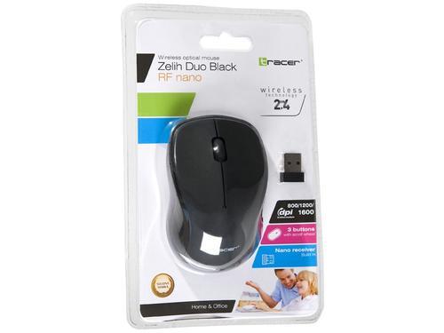 Tracer Mysz Zelih Duo bezprzewodowa czarna RF nano