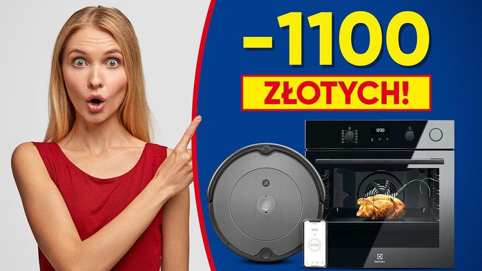Chcesz oszczędzić do 1100 złotych na elektronice? Wśród promocji smartfon, ekspres lub Roomba